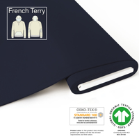Organic French Terry - GOTS cert.- navy