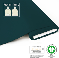 Organic French Terry - GOTS cert. - dark-petrol-blue