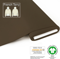 Organic French Terry - GOTS cert. - truffle