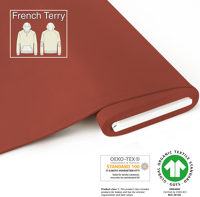 Organic French Terry - GOTS cert. - rost