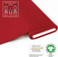 Organic Interlock-Jersey - GOTS certified - red