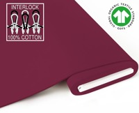 Organic Interlock-Jersey - GOTS certified - bordeaux