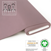 Organic Interlock-Jersey - GOTS certified - antique-pink