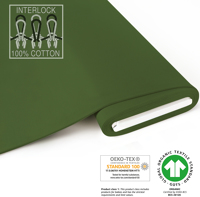 Organic Interlock-Jersey - GOTS certified - dark-green