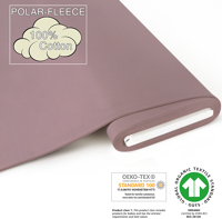 Organic-Fleece uni - GOTS certified - antique pink
