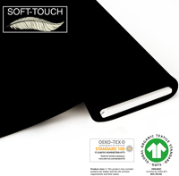 Jersey uni (soft-touch) - GOTS certified - black