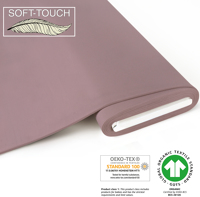 Jersey uni (soft-touch) - GOTS certified - antique pink