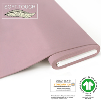 Jersey uni (soft-touch) - GOTS certified - light pink