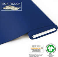 Jersey uni (soft-touch) - GOTS certified - royal blue